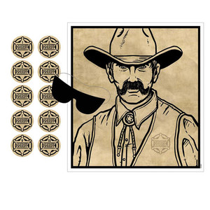 Pin The Badge On The Sheriff Game