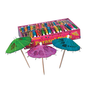 Boxed Party Parasol Picks
