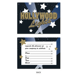 Hollywood Lights Invitations