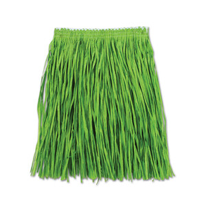 Adult Mini Green Hula Skirt