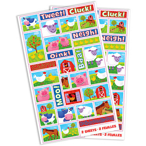 Barnyard Fun Stickers 2 Sheets