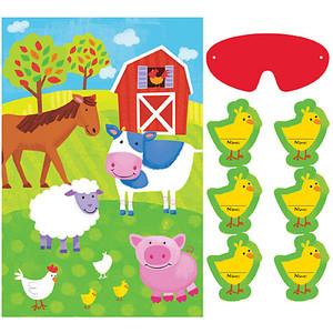 Barnyard Fun Party Game Stick the Animals on the Farm