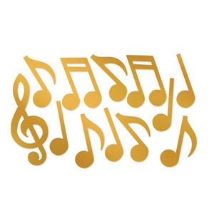 Gold Foil Musical Note Silhouettes