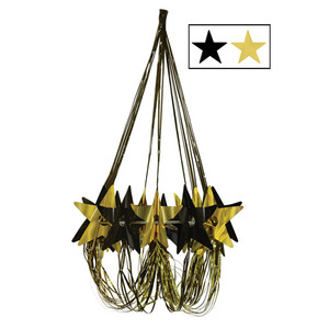 Black & Gold Star Chandelier