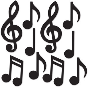 Mini Musical Notes Silhouettes
