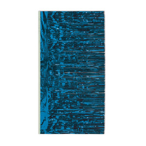 Packaged 2-Ply Blue Metallic Table Skirting