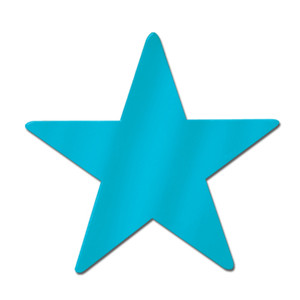 "5"" Foil Turquoise Star Cutout"