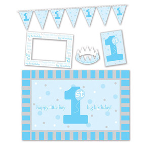 1st Birthday Blue High Chair Decorating Kit