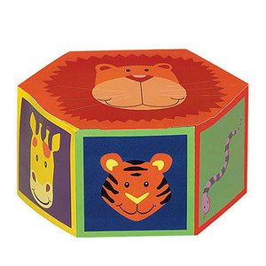 6  Jungle Animals Treat Boxes 6ct