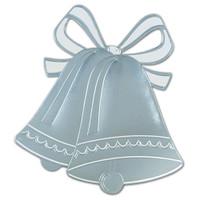 Silver Foil Wedding Bell Silhouette