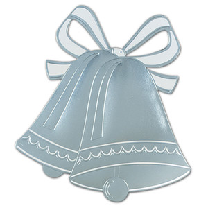 Silver Foil Wedding Bell Silhouette