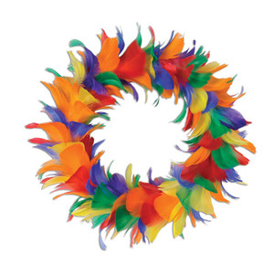 "8"" Feather Wreath"