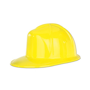 Yellow Plastic Construction Helmet