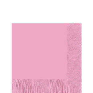 "New Pink  6 1/2"" Paper Lunch Napkins - 50 ct."