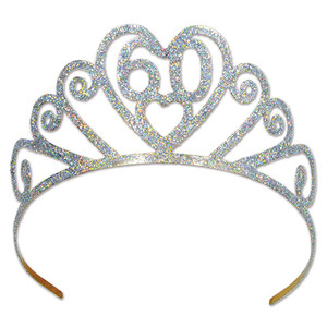 Glittered Metal 60 Tiara
