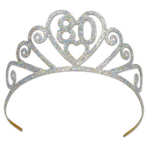 Glittered Metal 80 Tiara