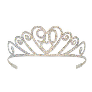 Glittered Metal 90 Tiara
