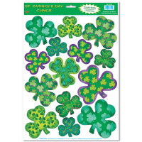Irish-Mood Shamrock Clings