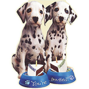 8 Party Pups Invitations