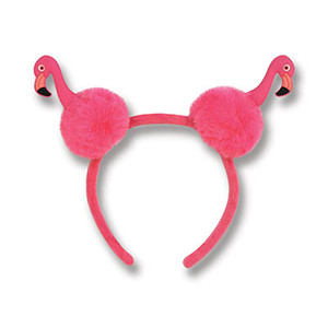 Flamingo Pom-Pom Headband