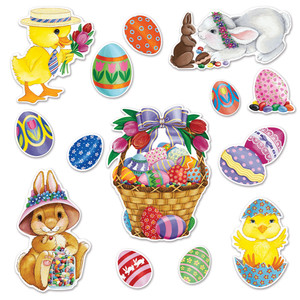 Easter Basket & Friends Cutouts