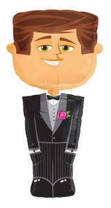 Groom Shaped Airwalker Balloon