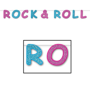 Glittered Rock & Roll Streamer