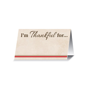 I'm Thankful For Place Cards