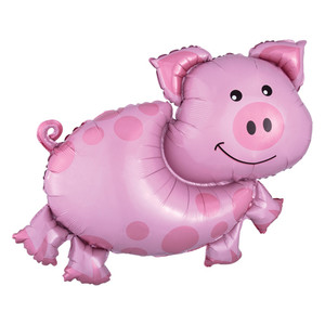 "35"" Pig SuperShape Foil Mylar Balloon"