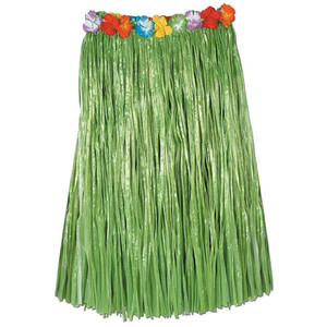Adult Artificial Green Grass Hula Skirt