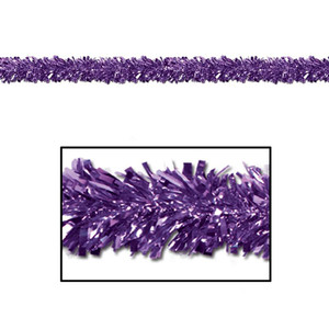6-Ply Flame Resistant Metallic Festooning Garland - Purple