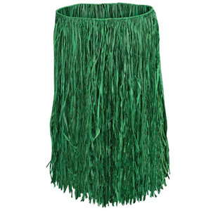 Extra Large Green Raffia Hula Skirt