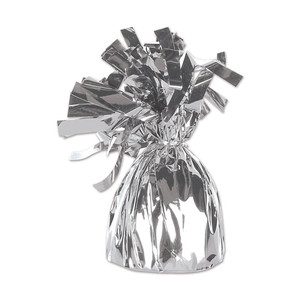 Silver Metallic Wrapped Balloon Weight