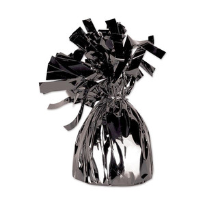 Black Metallic Wrapped Balloon Weight