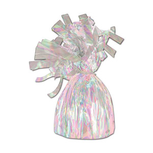 Opalescent Metallic Wrapped Balloon Weight