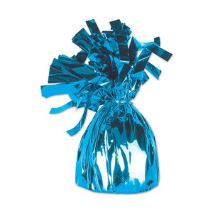 Light Blue Metallic Wrapped Balloon Weight