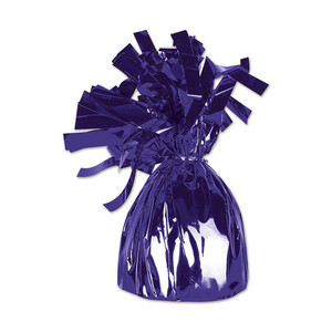 Purple Metallic Wrapped Balloon Weight