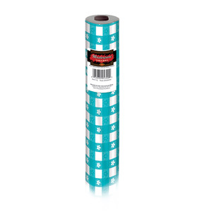 Teal Gingham Table Roll