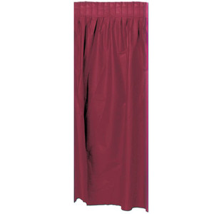 Burgundy Plastic Table Skirting