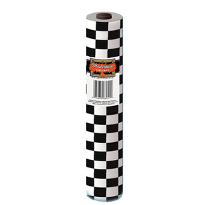 Black & White Checkered Table Roll