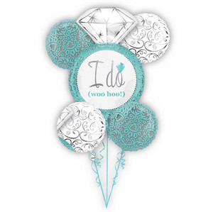 Robins Egg Blue Wedding Balloons Bouquet