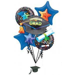 Grad Celebration Balloons Bouquet