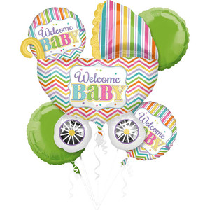 Baby Brights Balloons Bouquet