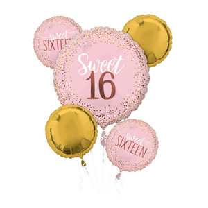 Sixteen Blush Balloons Bouquet