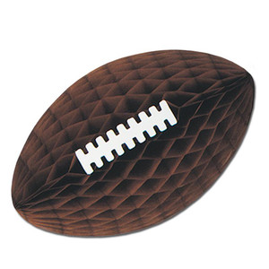 Brown Tissue Football with Laces