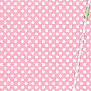 "30"" x 5 Ft Lovely Pink Dot Giftwrap"