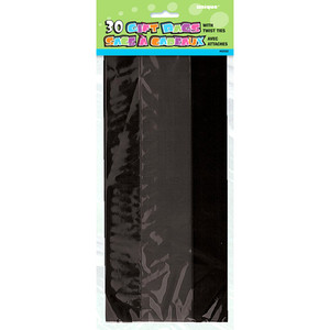 30 CT Black Cello Bags
