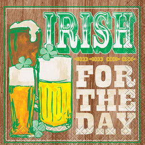 16 Irish For A Day Beverage Napkins