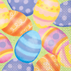 16 CT Spring Easter Beverage Napkins