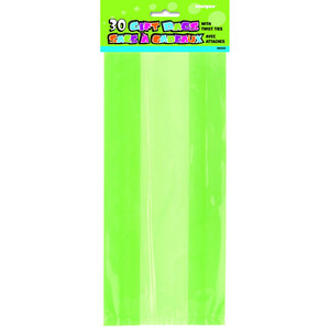 30 CT Lime Green Cello Bags